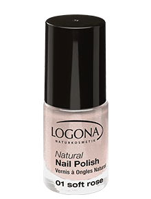 LOGONA Natural Nail Polish no 01 soft rose